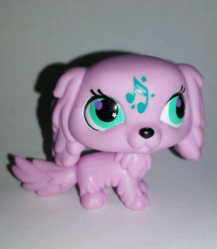 Littlest Pet Shop Pink Cocker Spaniel Dog Music Green Eyes