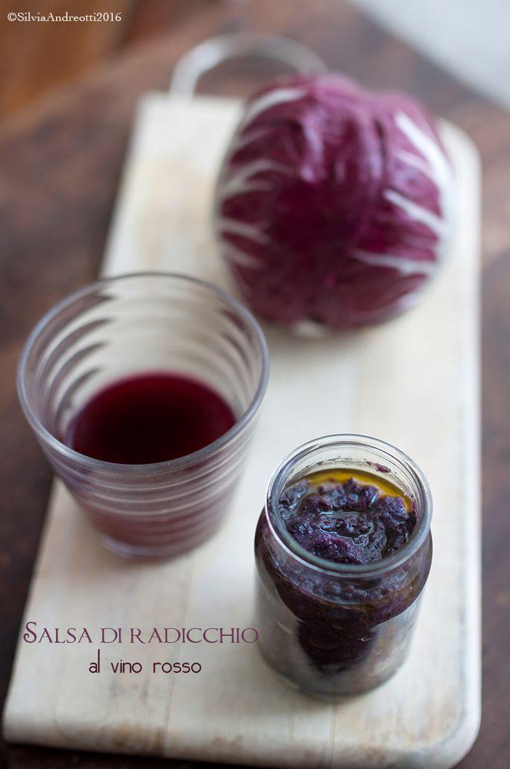Salsa di radicchio al vino rosso #vegan e #gluten-free
