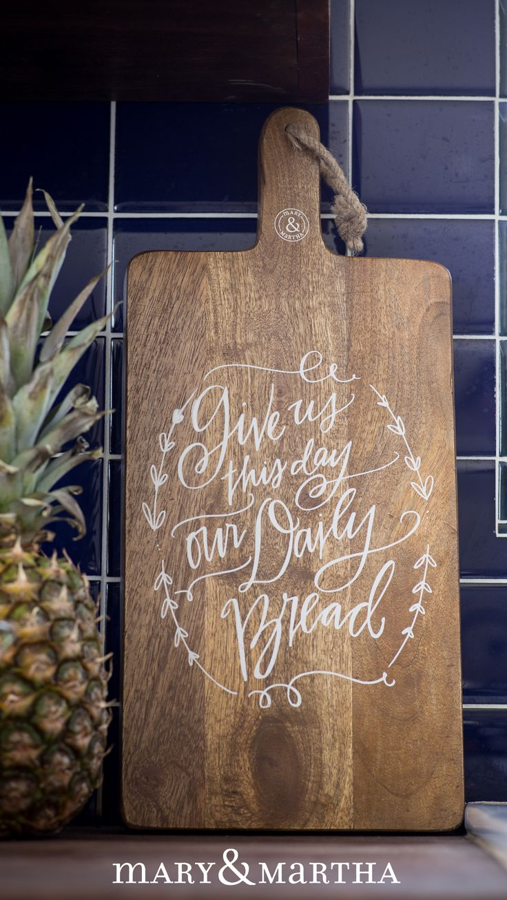 Moms do a fabulous job of feeding, cooking, nursing, and caring for our needs! Sometimes it can be really exhausting when there's much more to do other than those things! Give her the Mary & Martha Give Us This Day Bread Board ($52) not only to use, but to reminder her of Who provides for our needs and Who will bring her rest. http://www.maryandmartha.com