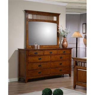 Check out the Sunset Trading SS-TR750-DR-MR Tremont Dresser and Mirror Set in Warm Chestnut priced at $1,028.00 at Homeclick.com.