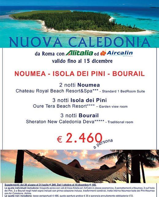 JLAND TRAVEL: IDEE DI VIAGGIO: NUOVA CALEDONIA FINO AL 15 DICEMB...