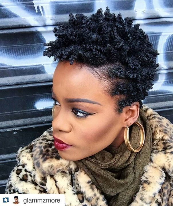 Natural hair. Twist out on short cut Beautiful