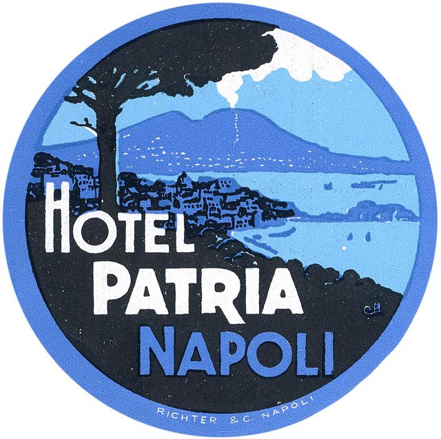 Naples hotel, by Art of the Luggage Label, via Flickr (best of the lot, IMO! -rk)