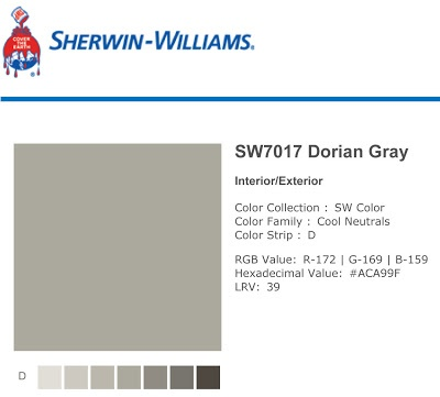 20 Best Images About Sherwin Williams Dorian Gray On
