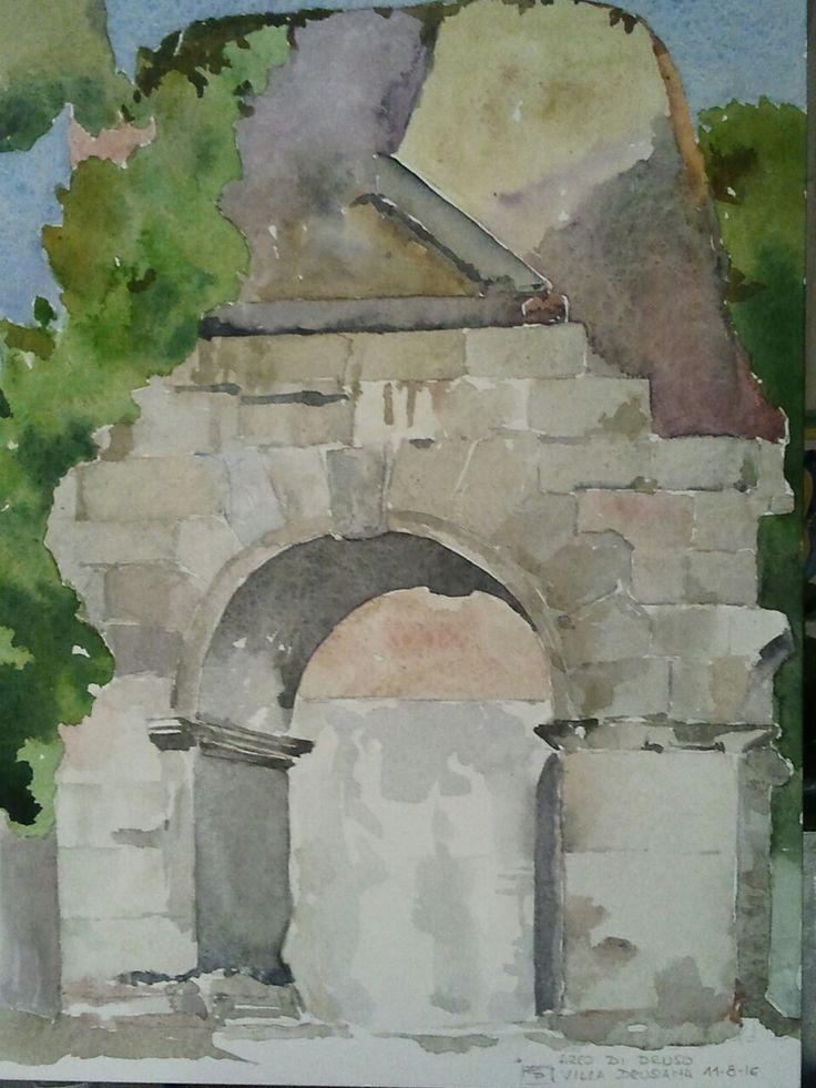 Arco di Druso www.watercoloursundayman.blogspot.com