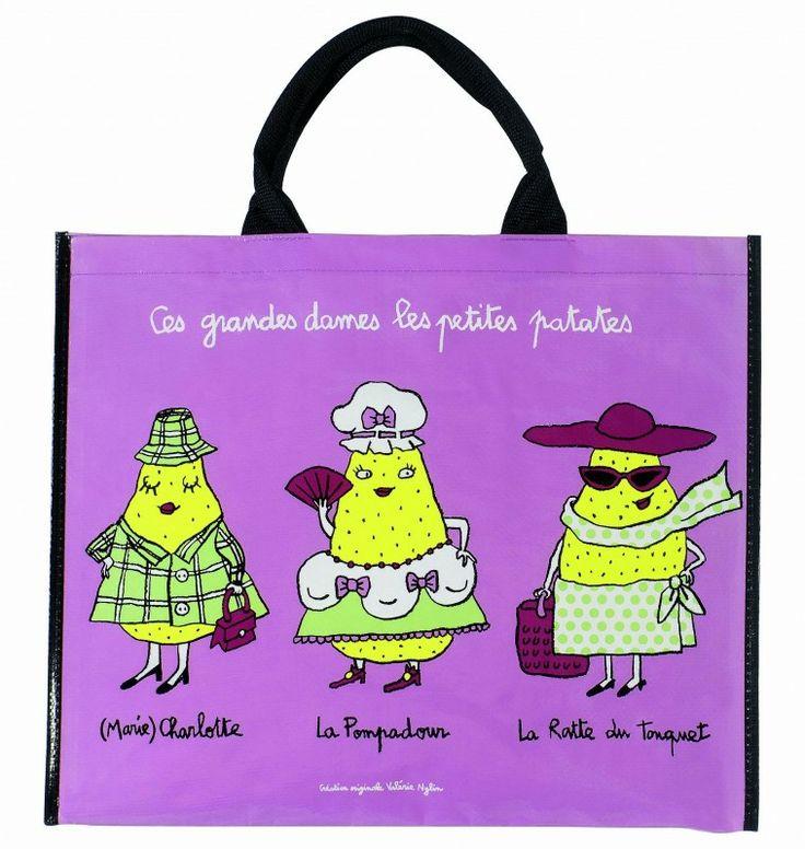 Cabas Ces grandes dames les petites patates : (Marie) Charlotte, La Pompadour, La Ratte du Touquet