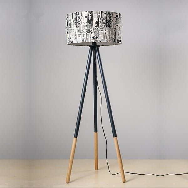Creative Warm Personality Round Wood Vertical Tripod Floor Lamp With Light Source In 2020 With Images Floor Lamp Tripod Floor Lamps Cool Floor Lamps