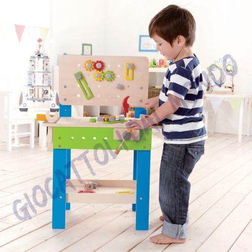 Banco da lavoro in legno per bambini Educo