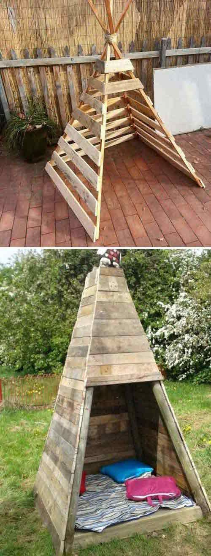 21 Möglichkeiten, Holzpaletten zu benutzen, die Ihre Kinder lieben werden! #h … #WoodWorking