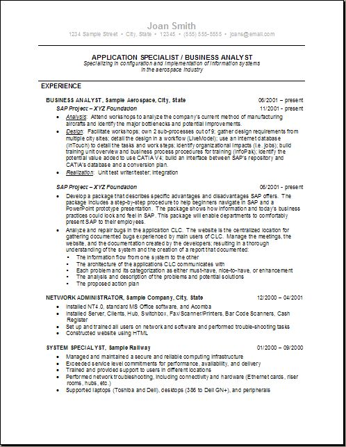 16 best Busy B Analysts images on Pinterest Reading, Business - configuration analyst sample resume