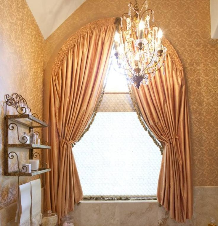 A Little Too Fancy For My Design Taste, But Good To Know You Can Make A  Curtain For An Arched Window!