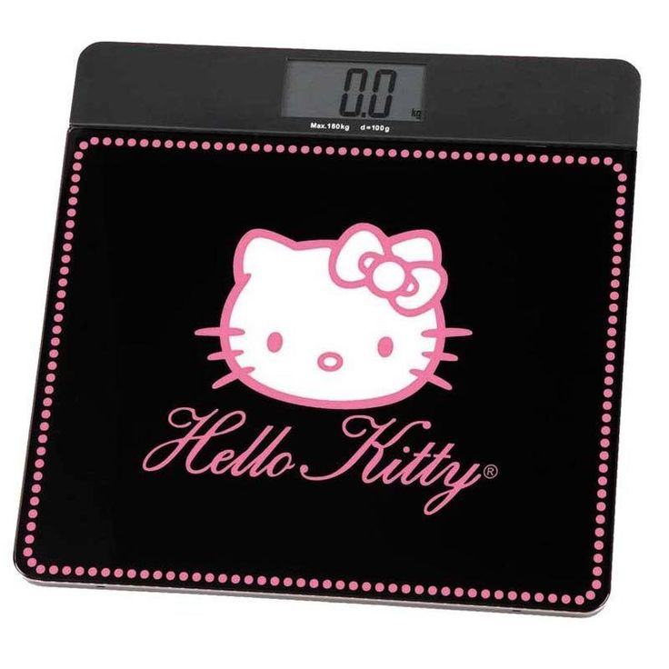 Bilancia Pesapersona Digitale Hello Kitty Forma Quadrata Colore Nero A29015