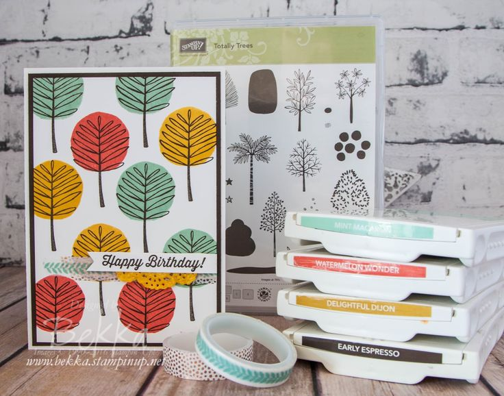 Birthday card featuring Totally Trees from Stampin' Up! UK Buy Stampin' Up! UK…