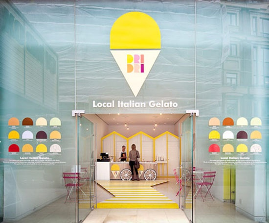 CUTE! Italian Ice Cream Stall by Elips Design in London