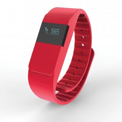 Image of Promotional Activity Tracker. keep Fit Tracker. Red