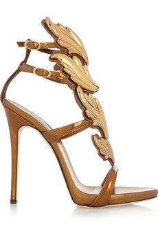 Giuseppe Zanotti Coline metallic leather sandals | NET-A-PORTER