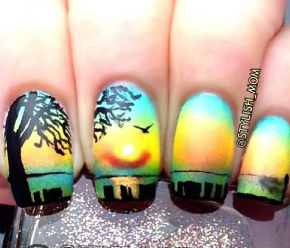 Tropical Sunset Nail Art Design - 25 Best Beach Nails Images On Pinterest Beach Nails, Sunset