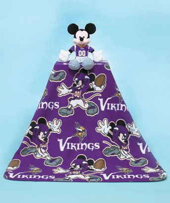 NFL Vikings Mickey Mouse Hugger with Throw - Regular Price $29.95, Sale $19.95