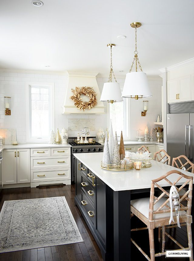 Elegant Christmas Kitchen Decorating Kitchen Decor Christmas Kitchen Elegant Christmas