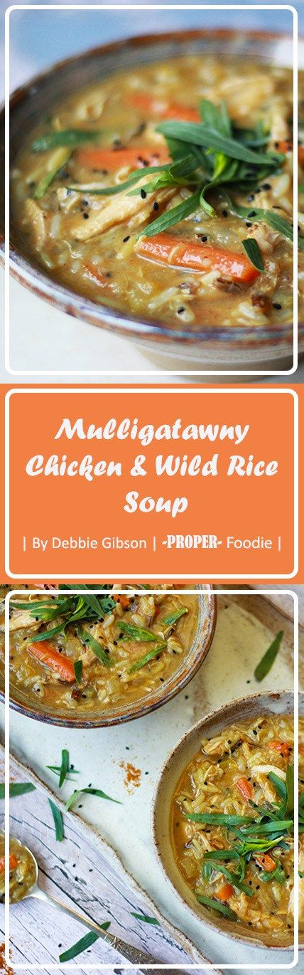 A warming chicken and wild rice mulligatawny soup perfect for a cold winters night and great for using up leftover meat and veggies