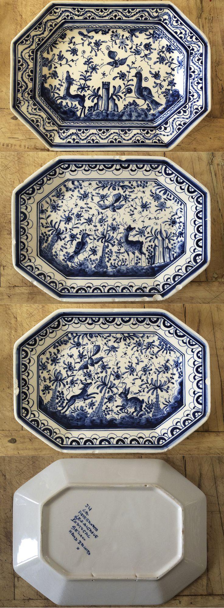 Piatti ottagonali portoghesi dipinti a mano con riproduzioni del 17° secolo. Collezione privata di STRA-DE STRATEGIC-DESIGN.