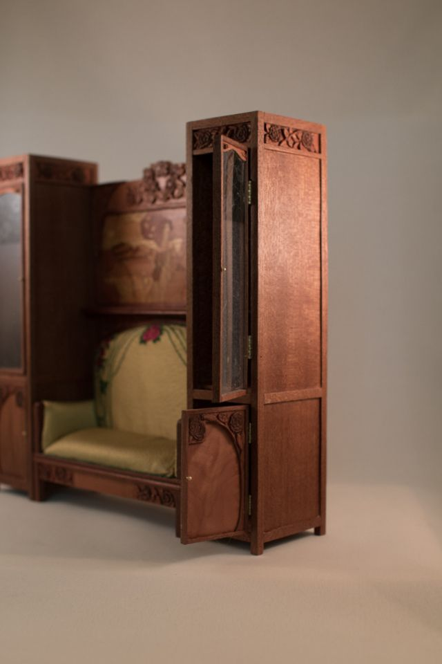 Art Nouveau Sofa And Cabinets Http Inchscaled Com A