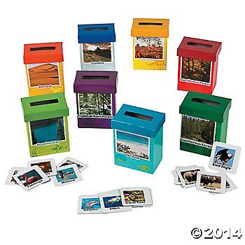 Animal Habitat Sorting Boxes - Perfect for science enrichment and centers! Great for kids who aren't readers as well as those who read proficiently. Ideal for classroom or homeschool.