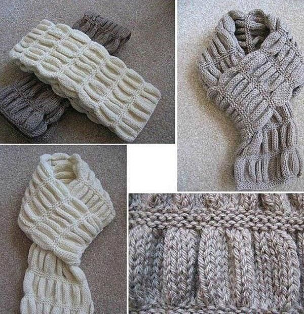 Детский шарф спицами: вязание разными способами
