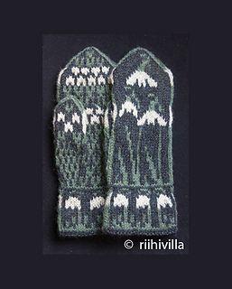 Snowdrop Mittens by Jouni Riihelä and Leena Riihelä - photo, pattern from a book
