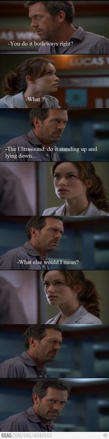 House; Asking about Bi to Olivia