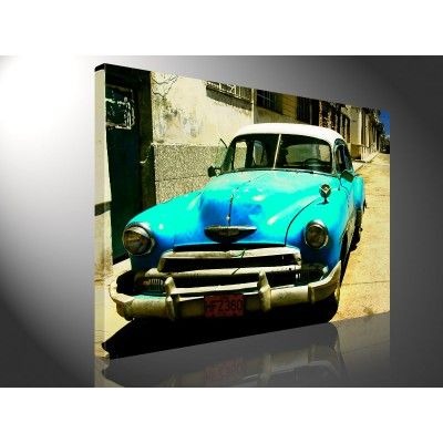 Canvas Cuba Street. Fan van prachtige auto's? Verkrijgbaar via @Wereld Doek.nl