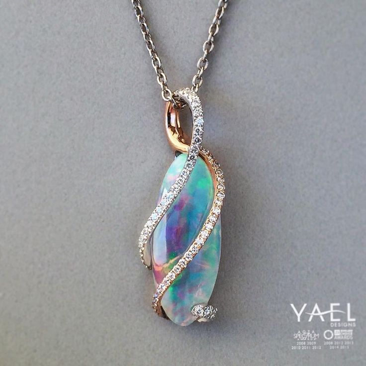 """The world is beautiful, embrace it! #opal #necklace #yaeldesigns"""