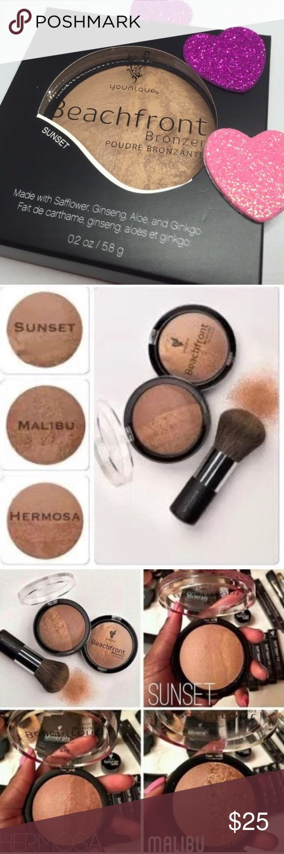 Younique Bronzer in SUNSET NEW SEALED YOUNIQUE💋 Younique Bronzer for that natural Sunkist look in mineral makeup Color is SUNSET.  Brand-new sealed get it now! Younique Makeup Bronzer
