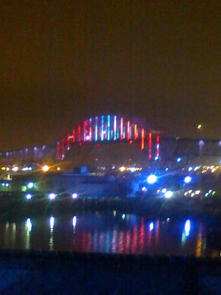 USS Lexington Deck View of the Corpus Christi Harbor Bridge~overnight stay with Cub Scouts
