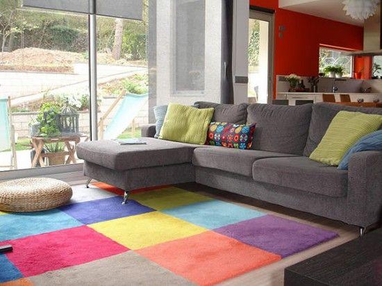 Sala gris combinada muebles pinterest colors for Como decorar una sala gris