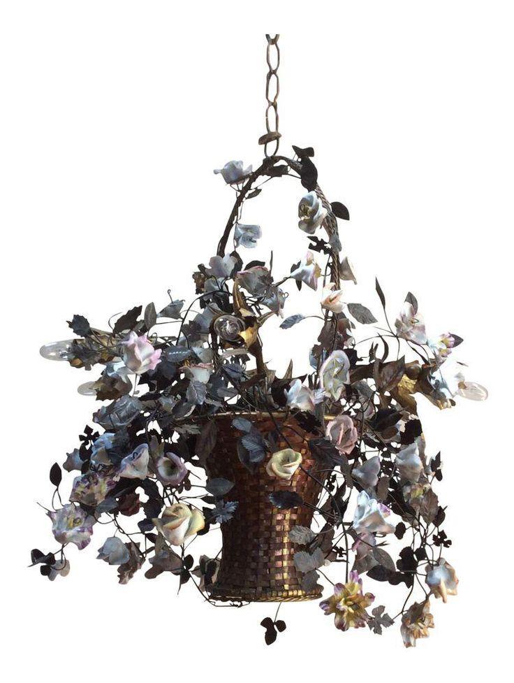 Antique Flower Basket Chandelier BasketChandelierCandle CandelabraPendant LightingChandeliersLantern