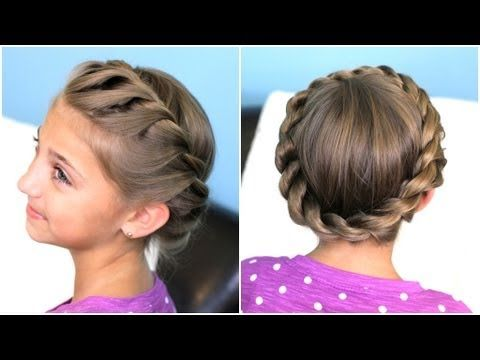 How to create a Crown Twist Braid | Updo Hairstyles - YouTube