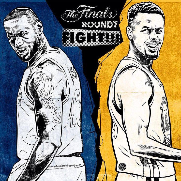 Cavaliers vs Warriors Game 7 Fight Illustration