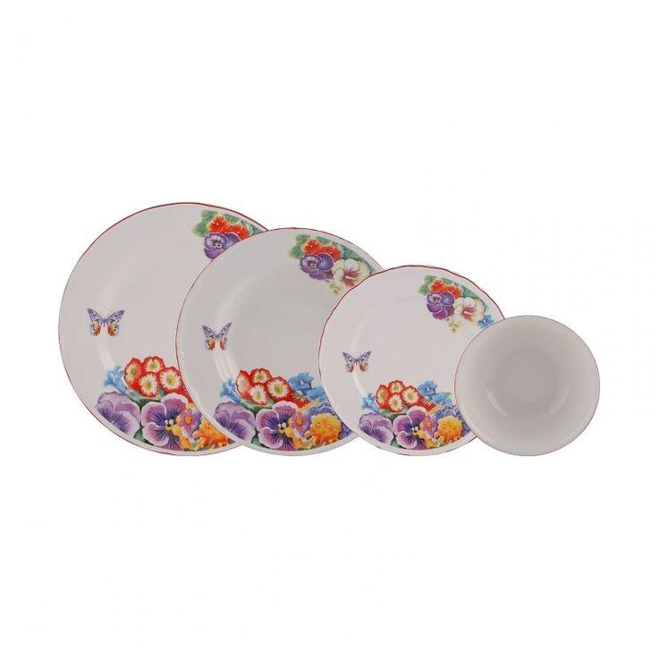 Karaca Tropical Island 24 Parça Porselen Yemek Takımı