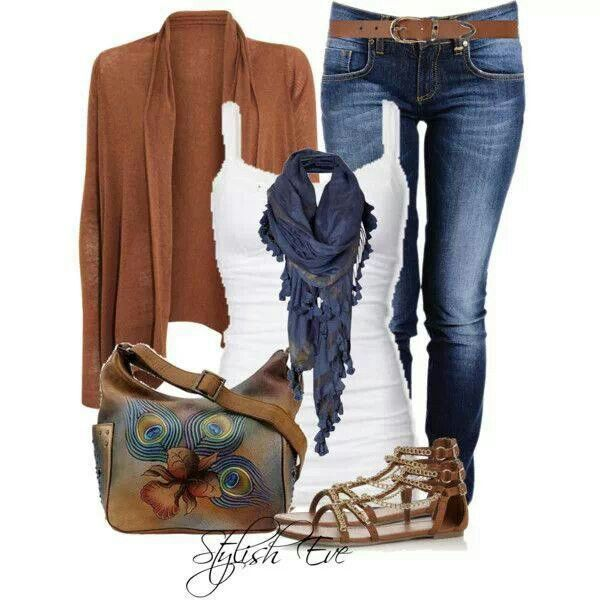 scarves to wear with jeans outfits | 22 Amazing Jeans Outfit Ideas | Style Motivation