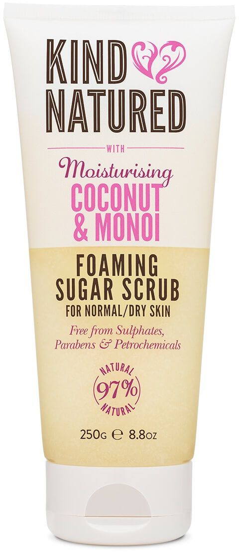 Discover Kind Natured's Coconut & Monoi Foaming Sugar Scrub from our range of natural body care products. Buy our natural body scrub online.