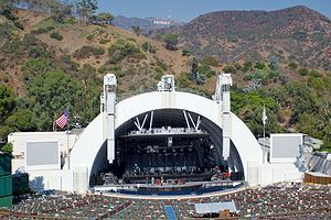 "The Hollywood Bowl is a modern amphitheater in the Hollywood area of Los Angeles, California, United States that is used primarily for music performances. It is the largest natural amphitheater in the United States, with a seating capacity of nearly 18,000.[1]The ""bowl"" refers to the shape of the concave hillside the amphitheater is carved into,"