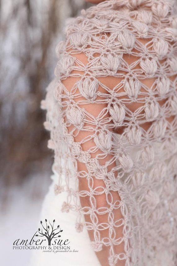 Shrug Bolero Shawl / Bridal Shrug /Crochet Shawl by MODAcrochet - shared by WhatnotGems.Etsy.com