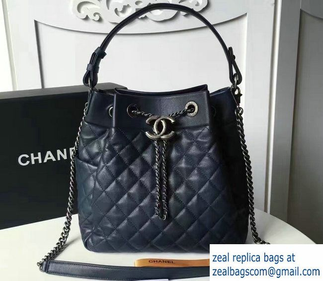 Chanel Black Quilted Backpack