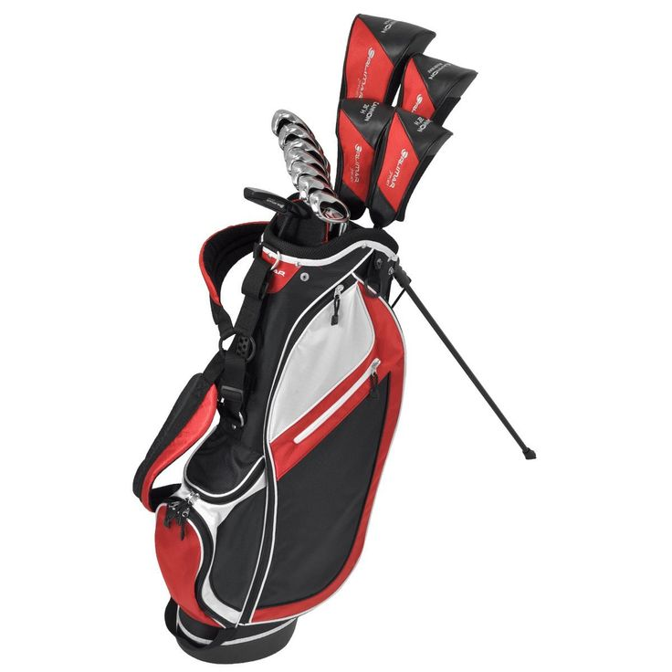 Offering state-of-the-art design these mens sport cannon complete golf club sets by Orlimar feature a high performance driver, powerful stainless steel irons, putter and stand bag