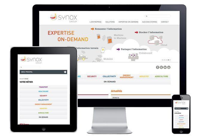 Site internet de Synox, par double-id.com