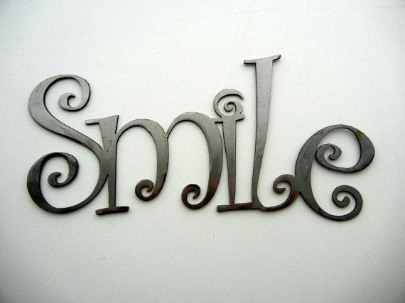Smile metal word art