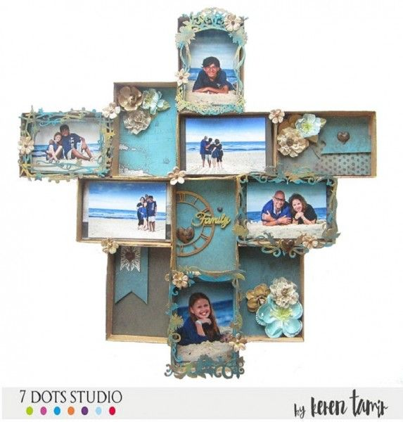 Wall hanging photo collage by Keren Tamir