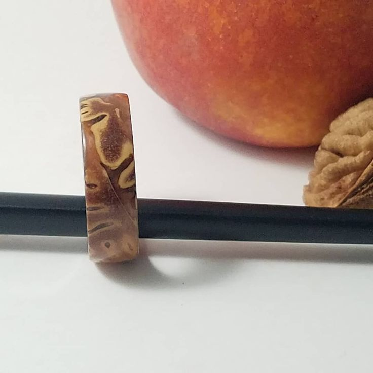Had to post this beauty. It is made from peach pits and resin. My sister chose t… – jewelry