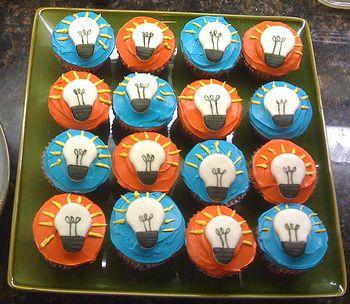 Lightbulb Moment Cupcakes
